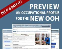 Occupational Outlook Handbook: The Occupational Outlook Handbook is Getting a Face-lift