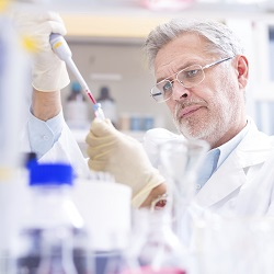 Life scientist working in a lab