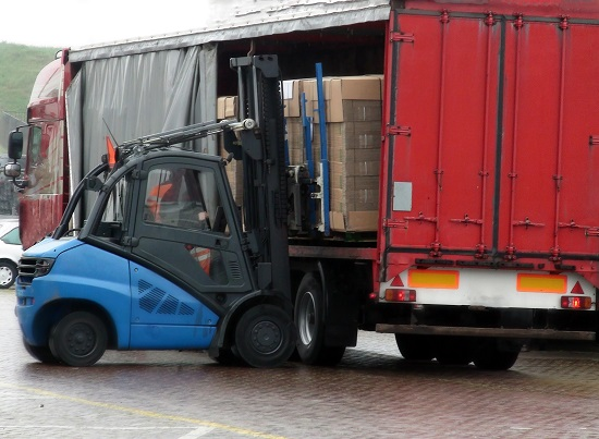 Loading Truck With Forklift