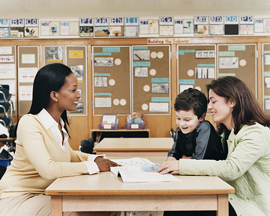 Teachers Often Meet With Parents To Report On Student Progress.