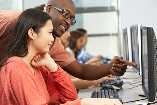 Teachers may help student develop their computer skills.
