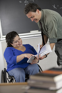 Special ed teachers specialize on helping students with disabilities.