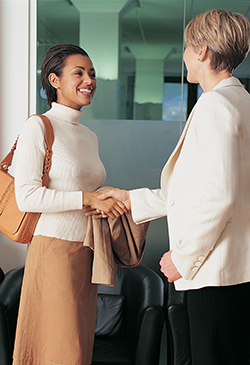 Present yourself professionally during job interviews and the workday.