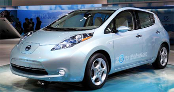 Nissan Leaf, all-electric vehicle