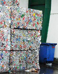 Many different kinds of materials can be recycled