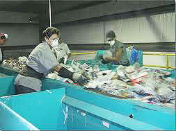Sorters remove separate unwanted materials from recyclables