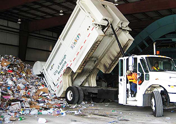 Well-maintained recycling trucks are critical for an MRF's operations