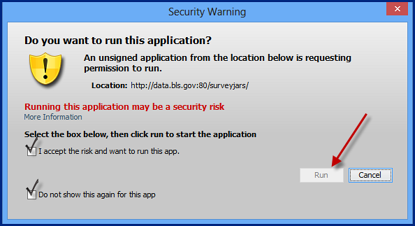 Security Warning Pop-up
