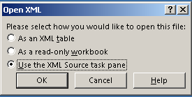 How to save the OOH Compilation file from XML to Excel