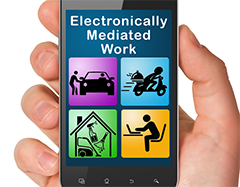 Electronically mediated work