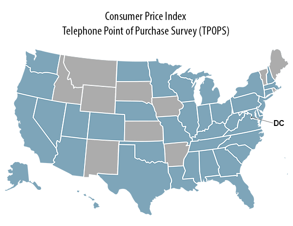 Telephone Point of Purchase survey (TPOPS) states