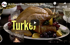 Video on BLS Celebrates Thanksgiving 2018