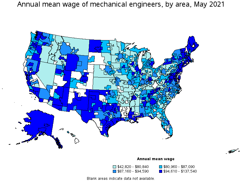 Mechanical engineers top paying metropolitan areas for this occupation sciox Choice Image