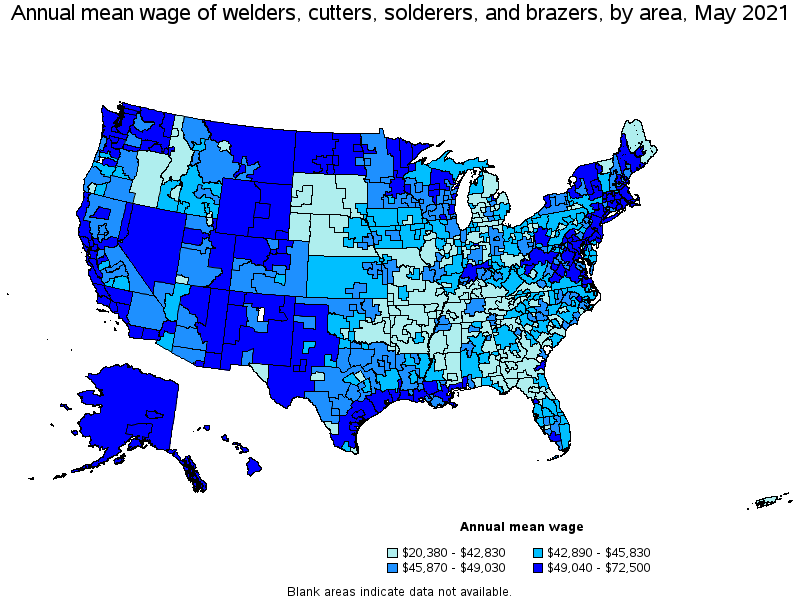 US Dept. of Labor May 2014 Welding Wages