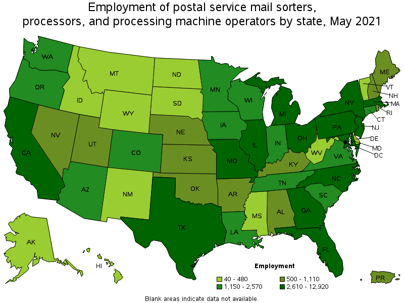 Postal Service Mail Sorters, Processors, and Processing