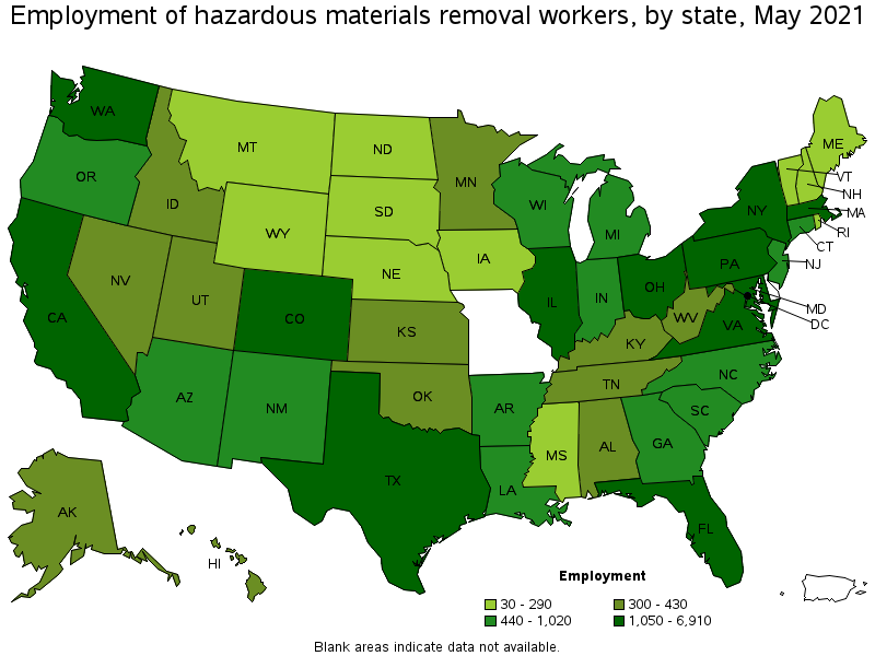 hazardous materials removal workers