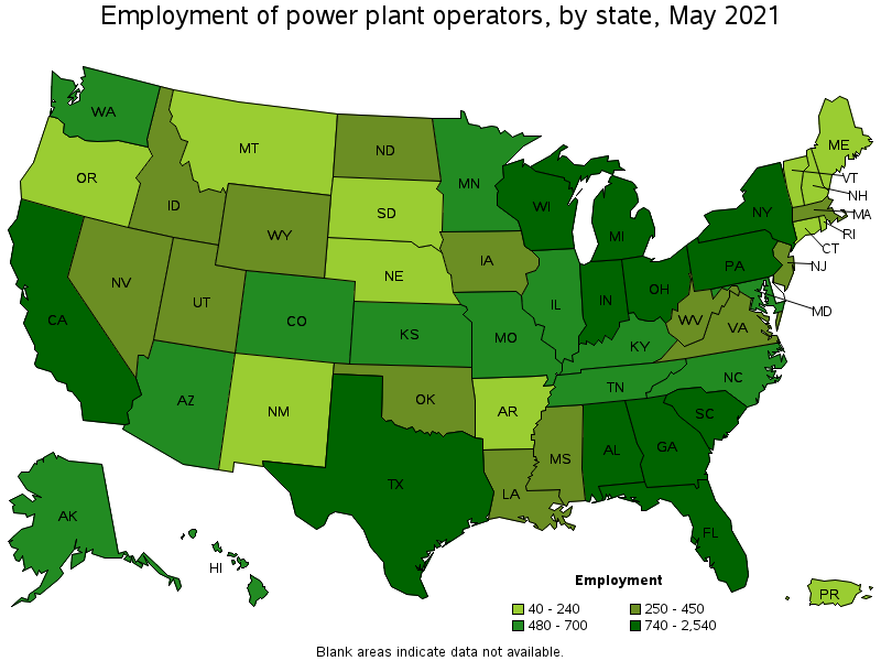 Power Plant Operators - List of nuclear power plants in us map