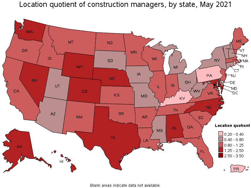 States with the highest concentration of jobs and location ients
