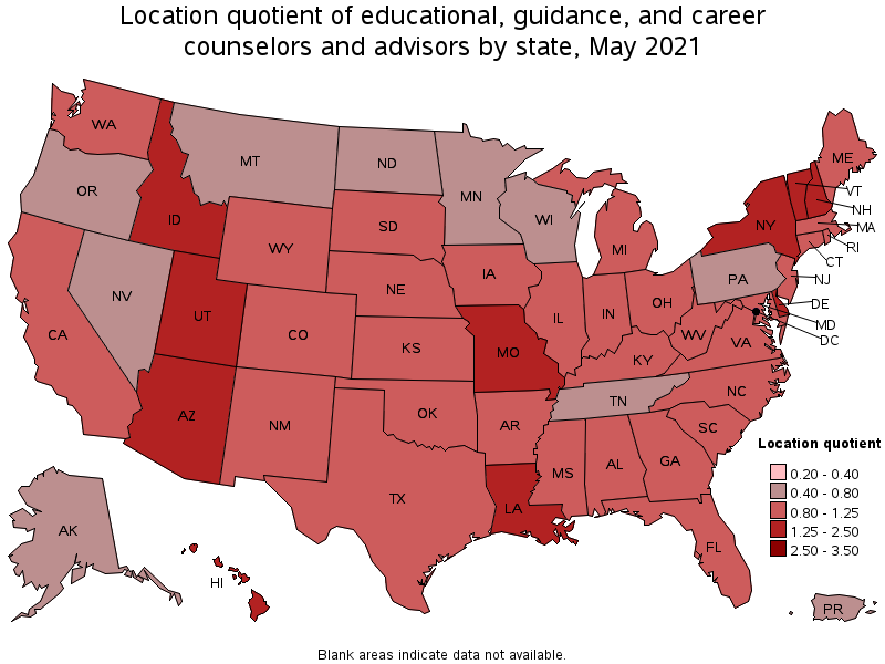 States With The Highest Concentration Of Jobs And Location Quotients In  This Occupation: