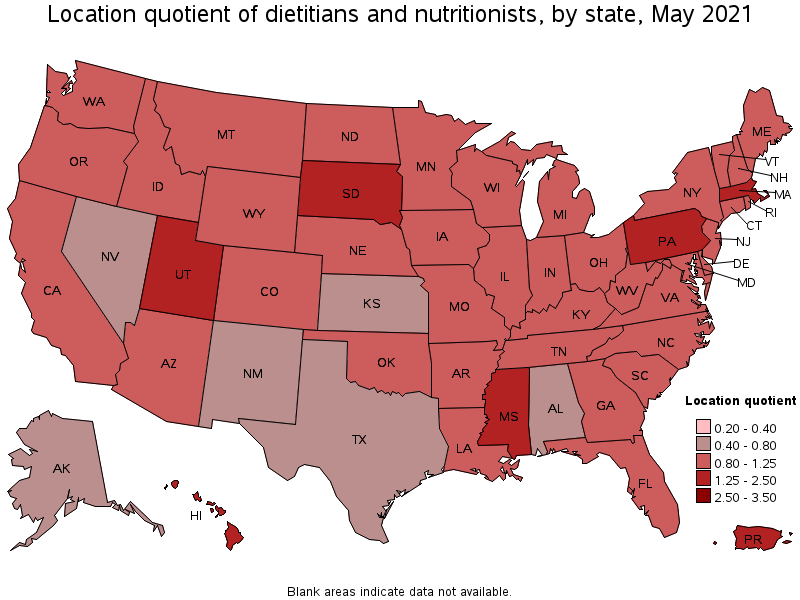 States With The Highest Concentration Of Jobs And Location Quotients In This Occupation