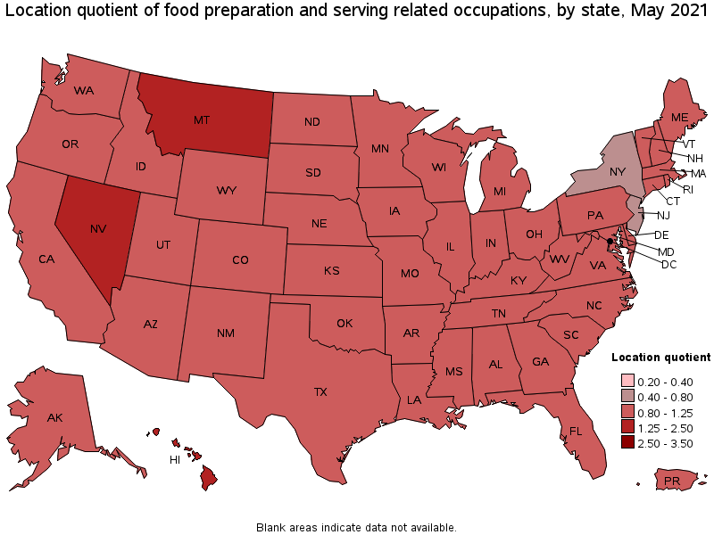 Awesome States With The Highest Concentration Of Jobs And Location Quotients In  This Occupation: