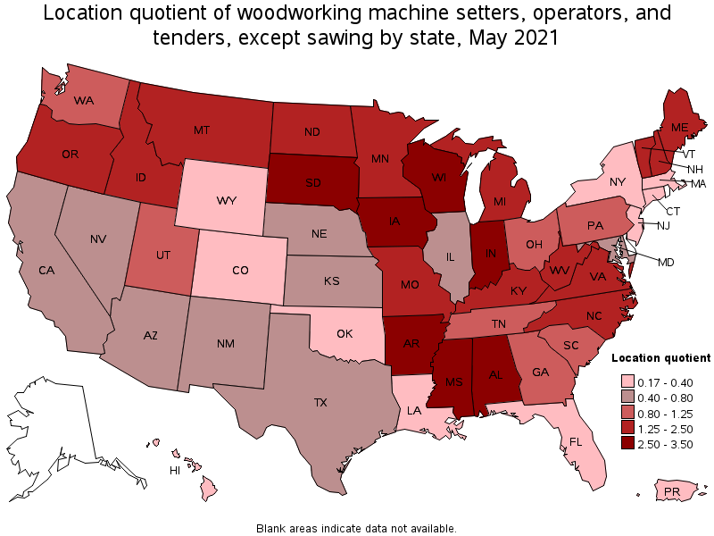 Attractive States With The Highest Concentration Of Jobs And Location Quotients In  This Occupation: