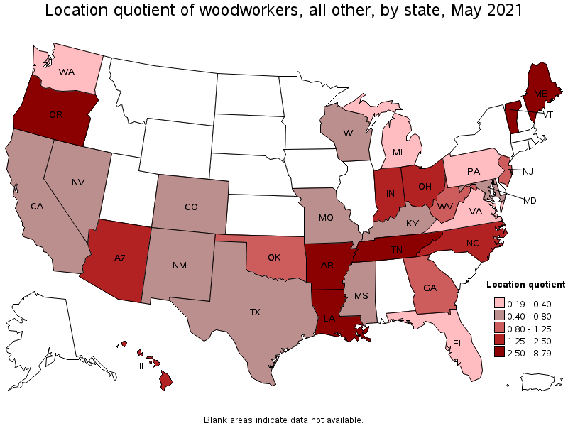 Captivating States With The Highest Concentration Of Jobs And Location  Quotients In This Occupation: