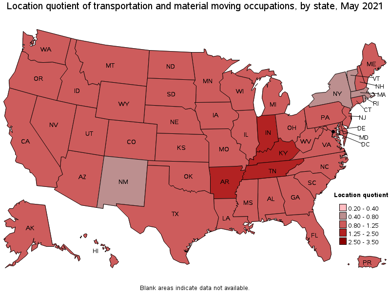 Charming States With The Highest Concentration Of Jobs And Location Quotients In  This Occupation: