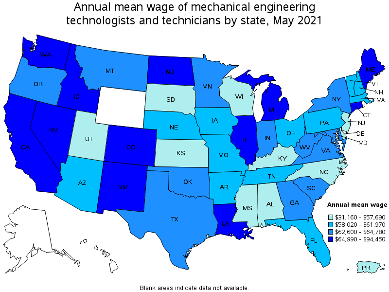 Mechanical engineering technicians top paying states for this occupation sciox Choice Image