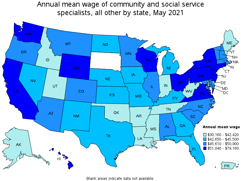 Great Top Paying States For This Occupation: