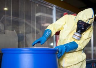 hazardous materials removal workers image