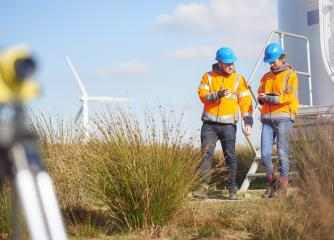 wind turbine technicians image