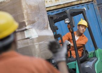 material moving machine operators image