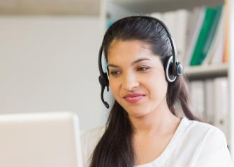 What skills are needed to work at an unemployment call center?