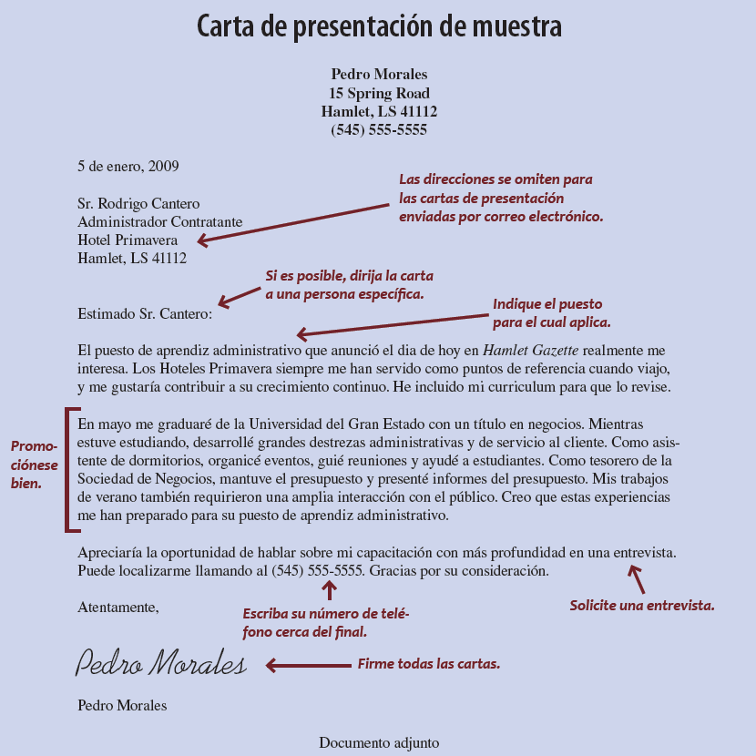 Curriculum Solicitudes Y Cartas De Presentacion Occupational