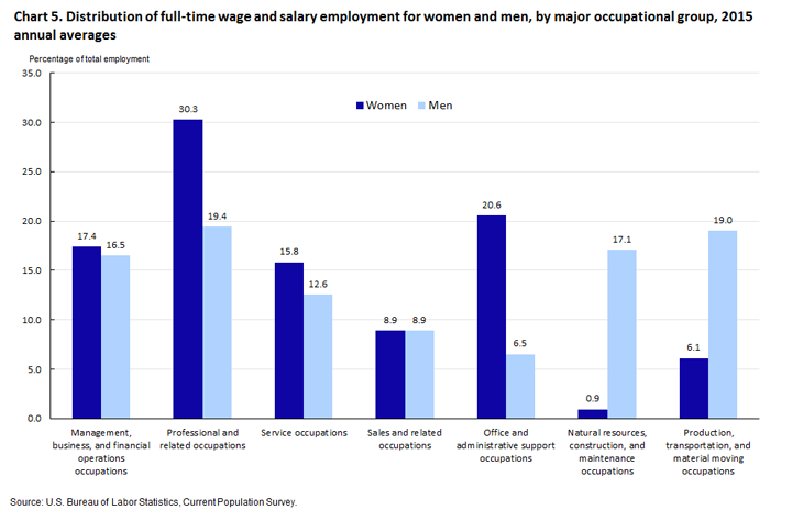 Highlights Of Womens Earnings In 2015 Bls Reports Us Bureau Of