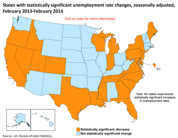 South Carolina has largest decrease in unemployment rate from ...