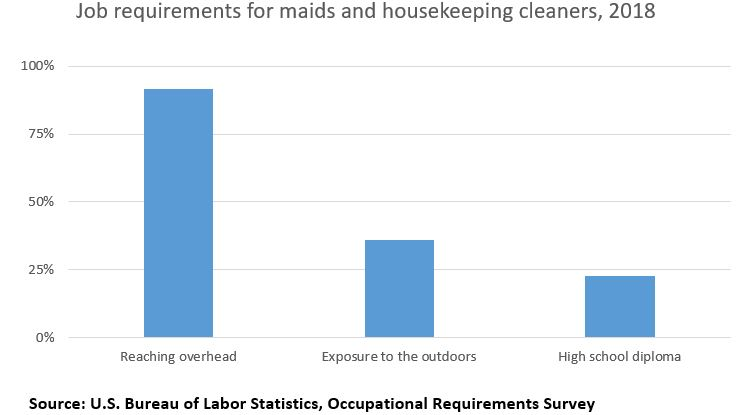 Job requirements for maids and housekeeping cleaners