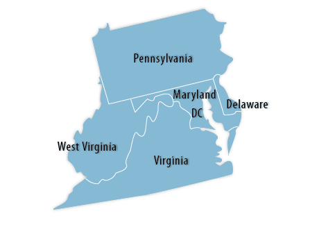 Mid-Atlantic Area Map