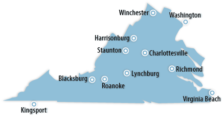 Virginia Area Map