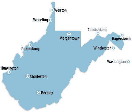 Select Area From West Virginia List