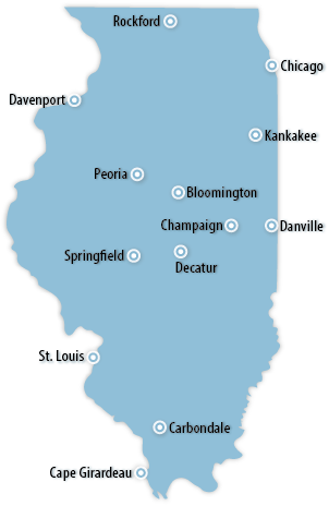 Illinois Area Map