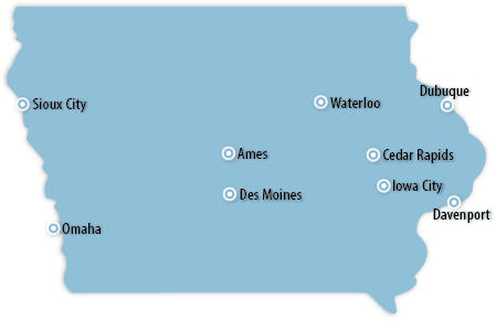 Iowa Area Map
