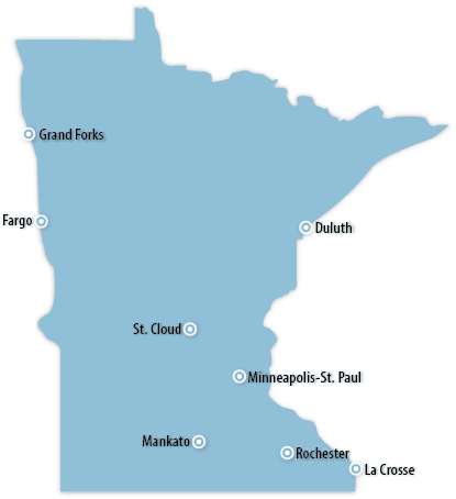 Minnesota Area Map