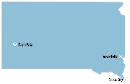 South Dakota Area Map