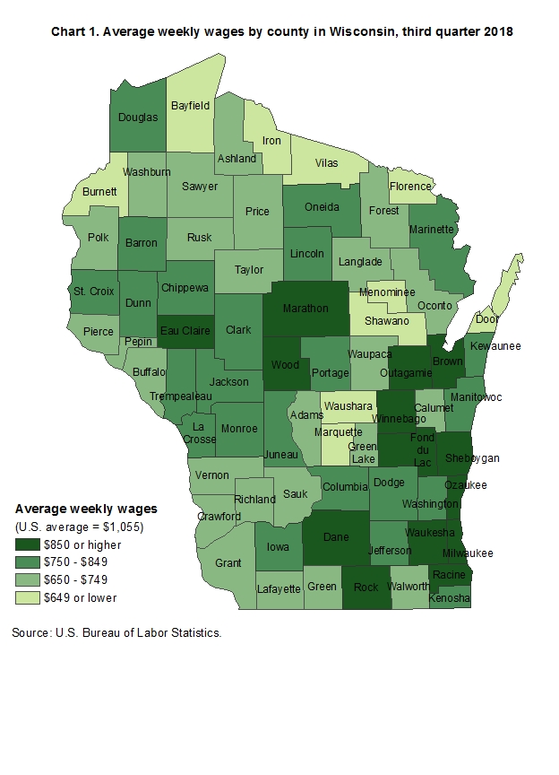County Employment and Wages in Wisconsin — Third Quarter ... on map of peninsula state park wi, map of castle rock lake wi, map of lakewood wi, map of black river falls wi, map of apostle islands wi, map of city of madison wi, map of liberty grove wi, map of beloit wi, map of racine wi, map of green bay wi, map of washington island wi, map of algoma wi, map of baileys harbor wi, map of jacksonport wi, map of wisconsin, map of the fox valley wi, map of menomonie wi, map of ohio by county, map of de soto wi,