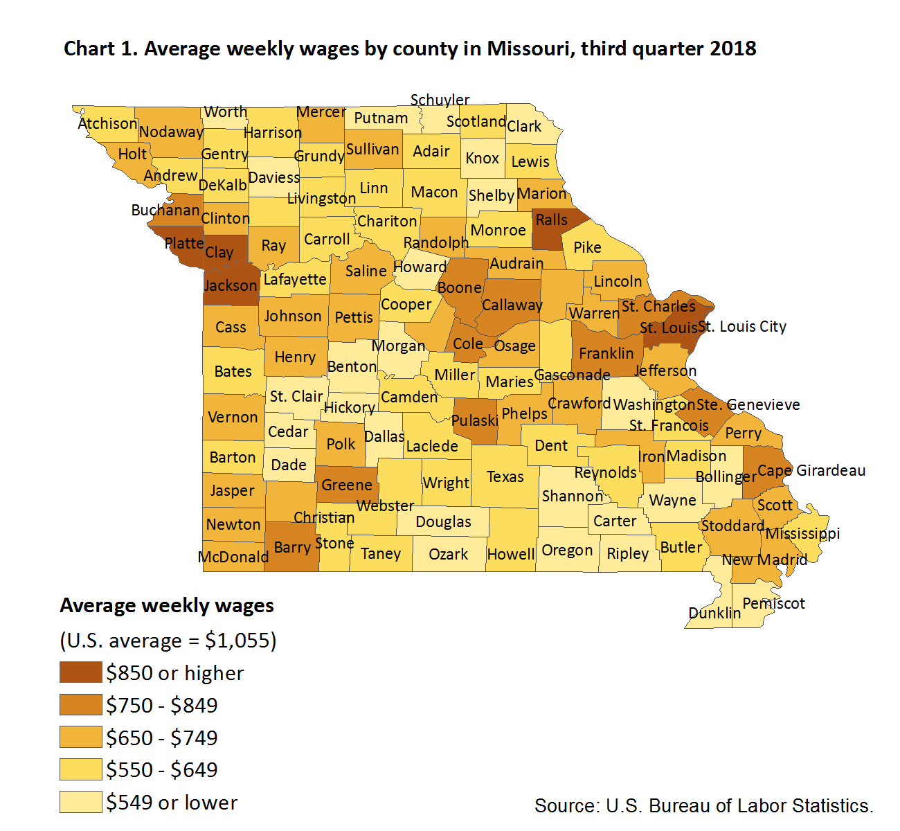 County Employment and Wages in Missouri – Third Quarter 2018