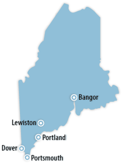 Maine Area Map
