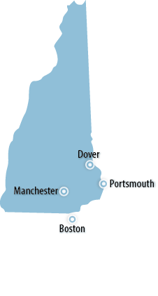 New Hampshire Area Map