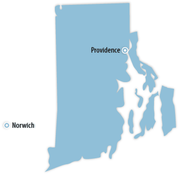 Rhode Island Area Map